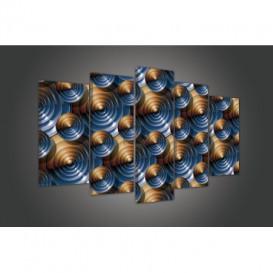Obraz na plátne viacdielny - OB3467 - 3D kruhy