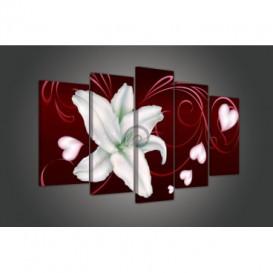 Obraz na plátne viacdielny - OB3471 - Biely kvet