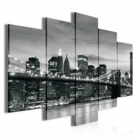 Obraz na plátne viacdielny - OB3481 - Čierno biely New York