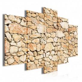 Obraz na plátne viacdielny - OB3501 - Kamenná stena