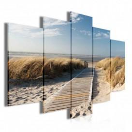 Obraz na plátne viacdielny - OB3502 - Chodník na pláž