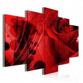 Obraz na plátne viacdielny - OB3504 - Červená ruža