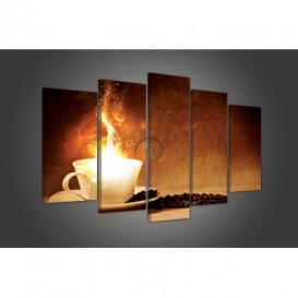 Obraz na plátne viacdielny - OB3517 - Káva