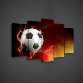 Obraz na plátne viacdielny - OB3522 - Futbalová lopta