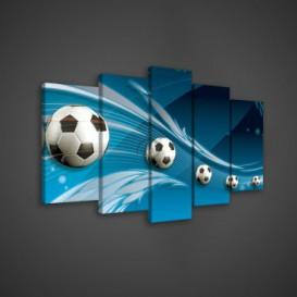 Obraz na plátne viacdielny - OB3523 - Futbalová lopta
