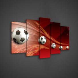 Obraz na plátne viacdielny - OB3524 - Futbalová lopta