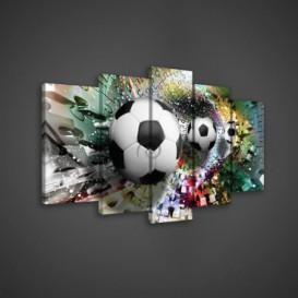 Obraz na plátne viacdielny - OB3525 - Futbalová lopta
