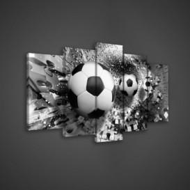 Obraz na plátne viacdielny - OB3526 - Futbalová lopta