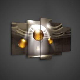 Obraz na plátne viacdielny - OB3543 - 3D gule