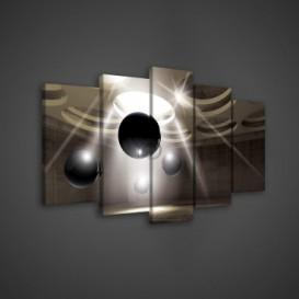 Obraz na plátne viacdielny - OB3544 - 3D gule