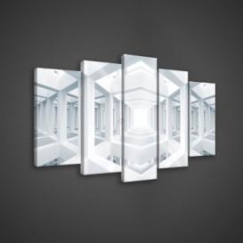 Obraz na plátne viacdielny - OB3548 - 3D stĺpy
