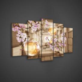 Obraz na plátne viacdielny - OB3551 - Ružové kvety