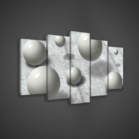 Obraz na plátne viacdielny - OB3561 - 3D gule