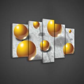 Obraz na plátne viacdielny - OB3567 - 3D gule