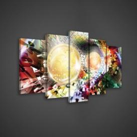 Obraz na plátne viacdielny - OB3570 - 3D gule