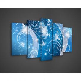 Obraz na plátne viacdielny - OB3573 - Modrý ornament