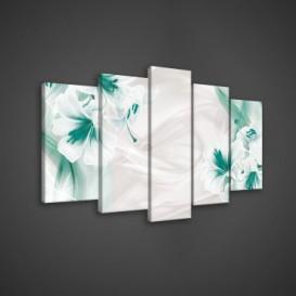 Obraz na plátne viacdielny - OB3578 - Tyrkysové kvety