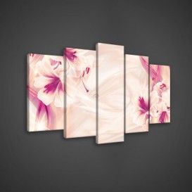 Obraz na plátne viacdielny - OB3579 - Ružové kvety
