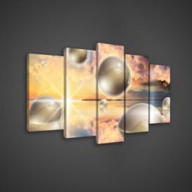 Obraz na plátne viacdielny - OB3587 - 3D gule