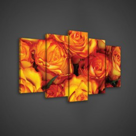Obraz na plátne viacdielny - OB3592 - Oranžové ruže