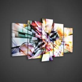 Obraz na plátne viacdielny - OB3596 - 3D gule