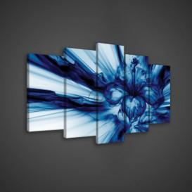 Obraz na plátne viacdielny - OB3610 - Modrá abstrakcia