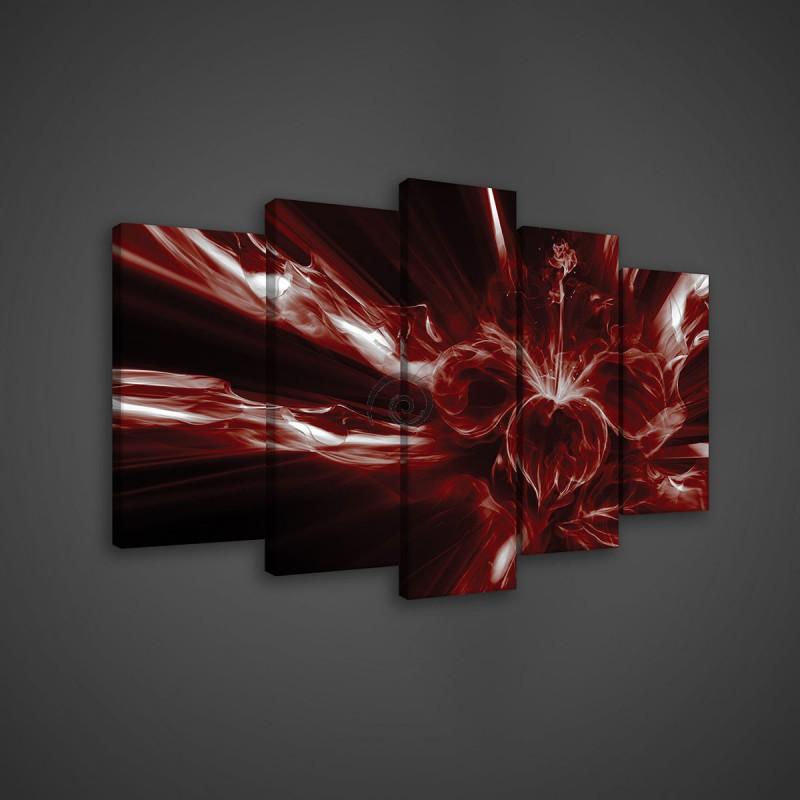 Obraz na plátne viacdielny - OB3611 - Červená abstrakcia ... 406a7017030
