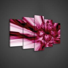 Obraz na plátne viacdielny - OB3612 - Ružová abstrakcia