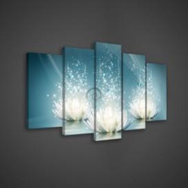 Obraz na plátne viacdielny - OB3620 - Biele kvety