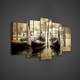 Obraz na plátne viacdielny - OB3621 - Gondoly