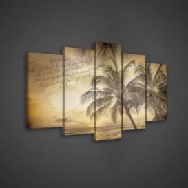 Obraz na plátne viacdielny - OB3623 - Pláž