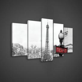 Obraz na plátne viacdielny - OB3644 - Paríž
