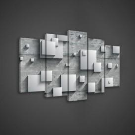 Obraz na plátne viacdielny - OB3648 - 3D kocky