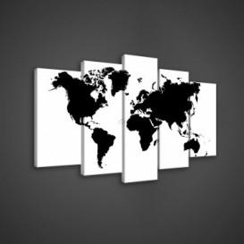 Obraz na plátne viacdielny - OB3651 - Mapa sveta