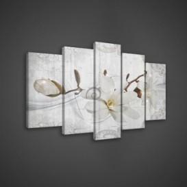Obraz na plátne viacdielny - OB3657 - Biely kvet