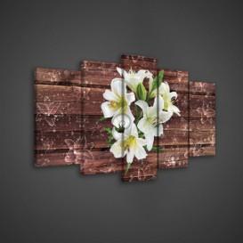 Obraz na plátne viacdielny - OB3659 - Biely kvet