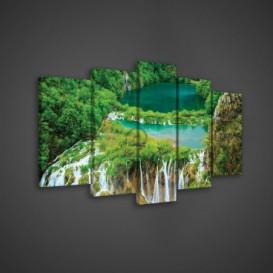 Obraz na plátne viacdielny - OB3664 - Vodopád