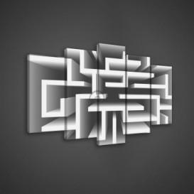 Obraz na plátne viacdielny - OB3671 - Labyrint