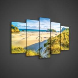 Obraz na plátne viacdielny - OB3681 - Pláž
