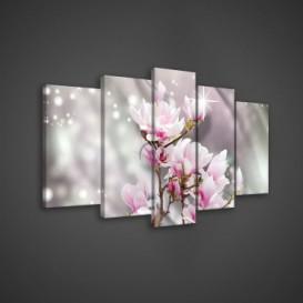 Obraz na plátne viacdielny - OB3683 - Ružový kvet