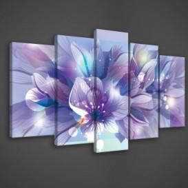 Obraz na plátne viacdielny - OB3687 - Modré kvety