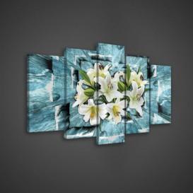 Obraz na plátne viacdielny - OB3691 - Biele kvety
