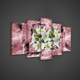 Obraz na plátne viacdielny - OB3692 - Biele kvety