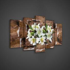 Obraz na plátne viacdielny - OB3693 - Biele kvety