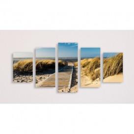 Obraz na plátně vícedílný - OB3701 - Pláž