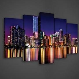 Obraz na plátne viacdielny - OB3706 - Nočné mesto