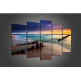Obraz na plátne viacdielny - OB3709 - Pláž