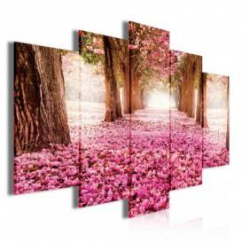 Obraz na plátne viacdielny - OB3711 - Ružový les