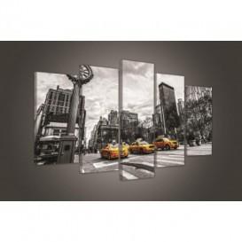 Obraz na plátne viacdielny - OB3716 - Taxíky