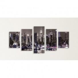 Obraz na plátne viacdielny - OB3721 - Nočné mesto